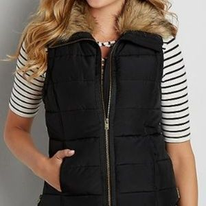 Maurices Puffer Vest with Faux Fur Collar